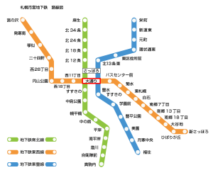 札幌市地下鉄路線図